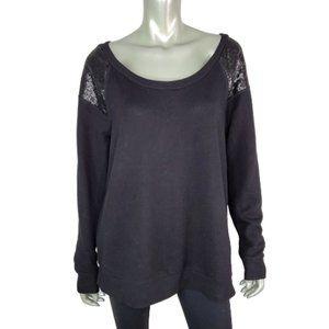Torrid Black Sequin Sweatshirt Plus Size 1X